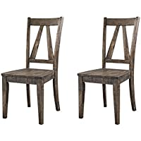 Abbey Avenue D D-Qui-SC Quinn Wooden Side Chair Set, Walnut