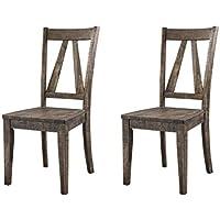 Abbey Avenue D D-Qui-SC Quinn Wooden Side Chair Set, Walnut