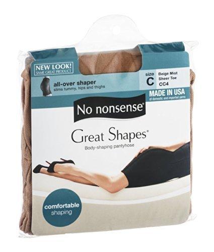 No Nonsense JQ4/CC4 Beige Mist Great Shapes Nylons by No Nonsense ()