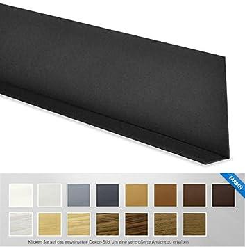 Pvc Leiste Weichsockelleiste Selbstklebend 5m Schwarz 50x15mm