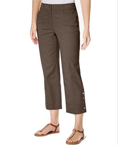 JM Collection Petite Cropped Snap-Button Pants
