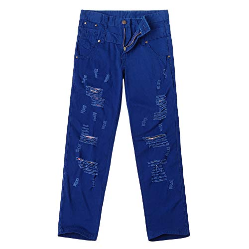Inverlee-Mens Casual Solid Loose Patchwork Ripped Hole Trousers Cargo Pants by Inverlee-Mens (Image #3)