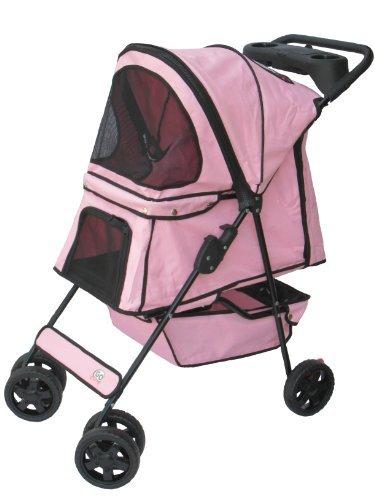Go Pet Club Pet Stroller Pink by Go Pet Club