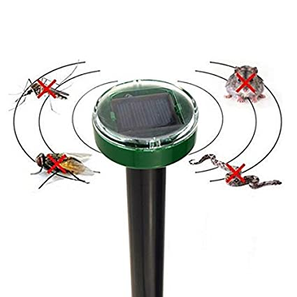 2e381be487c7 Eco-Friendly Solar Power Electronic Ultrasonic Pest Repellent Gopher Mole  Snake Mouse Pest Reject Repeller