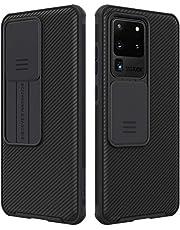 جراب هاتف سامسونج جالاكسي S20 الترا / S20 ألترا 5G من نيلكين مع غطاء كاميرا منزلق حافظة واقية أنيقة رفيعة لهاتف سامسونج جالاكسي S20 الترا / S20 الترا 5G - أسود