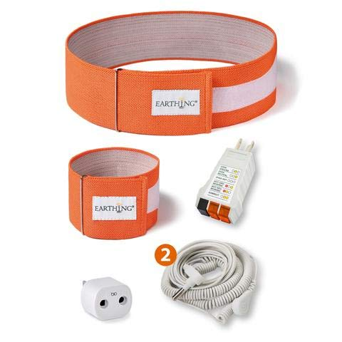 Earthing The Original Universal Grounding Body Band Kit by Earthing to Improve Sleep, Inflammation, and Anxiety (Earthing Kit Computer Mat)