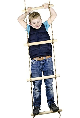 Amazon Com Squirrel Products 6 Ft Climbing Rope Ladder For Kids