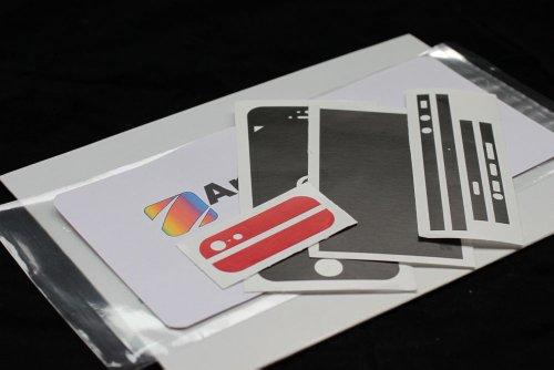 AppSkins Folien-Set iPhone 5/5s/ SE color edition black/red matt