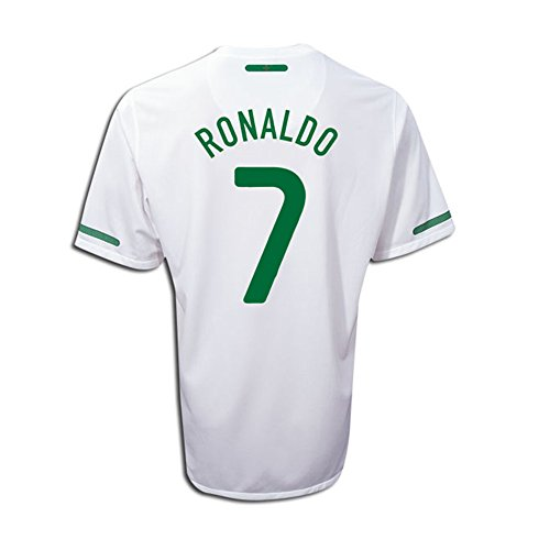 Ronaldo #7 Portugal Away Soccer Jersey YOUTH. (YL) (Portugal Away Shirt)