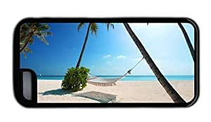 Hipster custom made for iphone 5/5S case hammock beach palms paradise TPU Black for Apple for iphone 5/5S