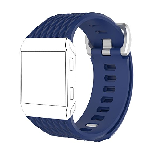 Pinkashop Soft Silicone Dragon scales pattern Adjustable Fashion TPE Strap Bracelet for Fitbit Ionic Replacement Smart Watch Wristband (Blue)