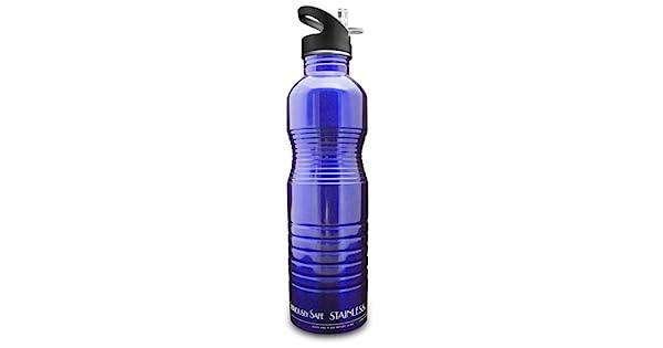 Amazon.com: New Wave Enviro Botella de agua de acero ...