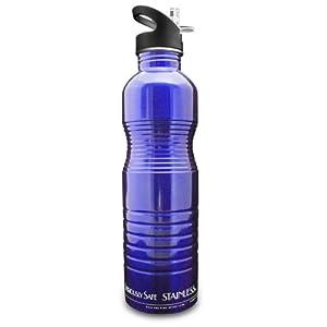 new wave enviro stainless steel water bottle 1 liter blue sports water bottles. Black Bedroom Furniture Sets. Home Design Ideas