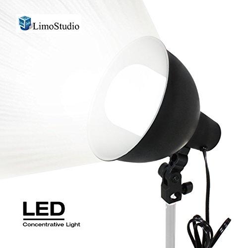 2650 Lumen LED Light Bulb with 7.5'' Diameter Metal Lamp Socket for Concentrative Strong Spotlight, Minimum Light Loss, Umbrella Reflector Holding Slot, Photography Video Studio, AGG2431 by LimoStudio