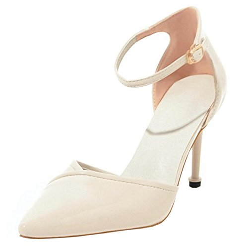 Beige 8 Women Pointed Toe Shoes Party Taoffen Elegant Hq1wq0