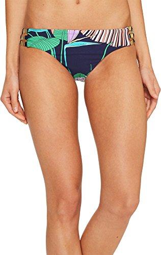 Trina Turk Women's Hipster Bikini Swimsuit Bottom, Navy/Midnight/Midnight Paradise, 8 - Chain Detail Bikini