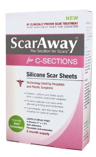 ScarAway C-Section Scar Treatment Strips, Silicone Adhesi...