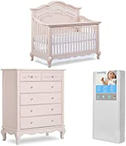 Evolur Aurora 5-in-1 Convertible Crib & Tall Chest with Free 260 Coil Crib/Toddler Matt