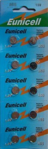 10 x AG6 Alkaline button cell batteries - G6 LR69 LR921 SR921W 370 371 type