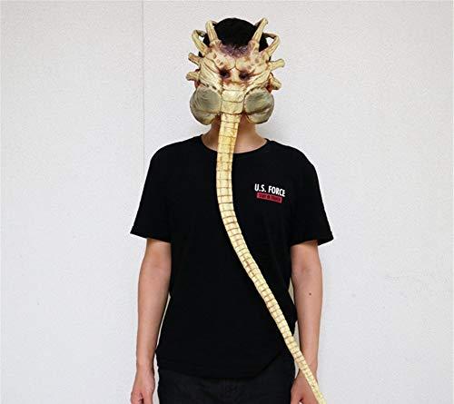 Fun Holi-day Supplies Halloween Mask Alien Facehugger Model Half Face Headgear Terror Horror Haunted House Cosplay Mischief Masquerade -
