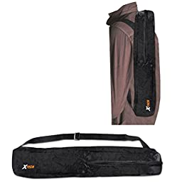 Durable Pro Grade 72 inch Full size Tripod with 3 way Pan-Head, Bubble level indicator, 3 Section Aluminum alloy lock in legs for Sony PMW-EX3 Camcorder plus Convenient Backpack style Carrying Case