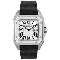 Cartier Men's W20073X8-Blue Santos 100 XL Automatic Watch by Cartier