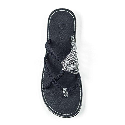 - Plaka Flip Flops Sandals for Women Black Zebra Size 8 Oceanside