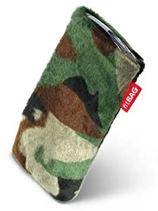 fitBAG Marsch Camuflage - Funda a medida, Exterior de piel sintética, con forro interno de microfibra,para HTC 7 Pro