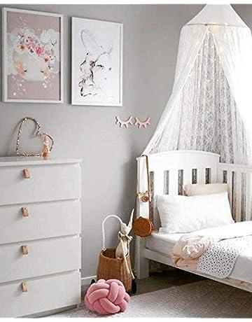 Kunmuzi - Toldo Redondo para Cama Infantil, decoración de guardería, mosquitera de algodón,