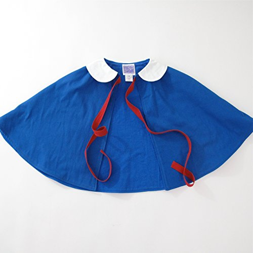 Madeline Cape, Halloween Costume, Toddler, Girls, Royal Blue, Peter Pan Collar, Cloak, Capelet, Poncho