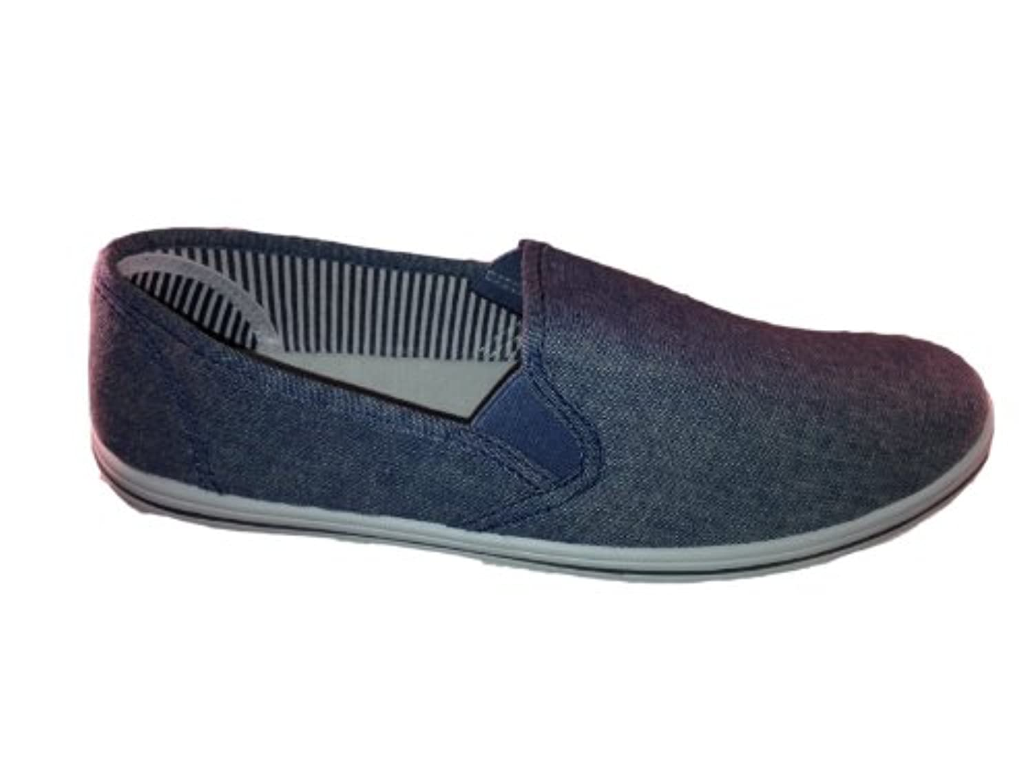 MENS PLIMSOLES SLIP ON PUMPS TRAINERS PLIMSOLLS ESPADRILLES SHOES CANVAS BOYS SIZE ADULT UK 7