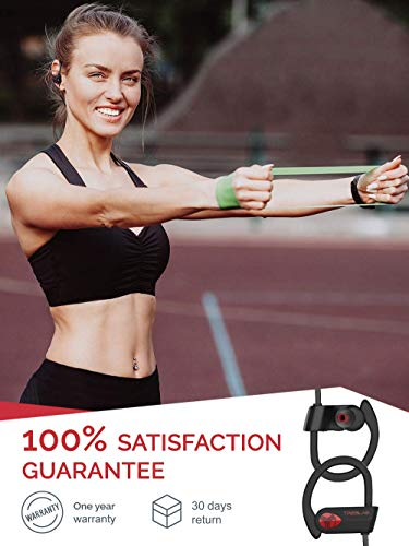 TREBLAB XR500 Bluetooth Headphones, Best Wireless Earbuds for Sports, Running or Gym Workout. 2018 Updated Version. IPX7 Waterproof, Sweatproof, Secure-Fit Headset. Noise Cancelling Earphones w/Mic by Treblab (Image #5)