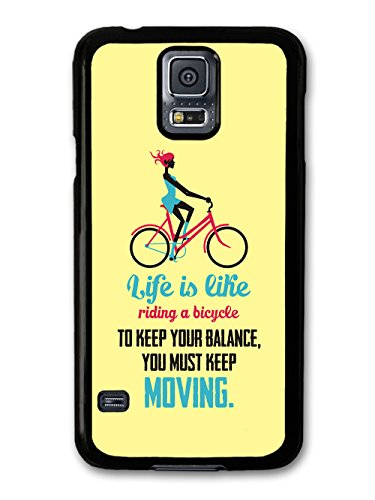 a Bicycle Albert Einstein Life & Love Inspirational Quote case for Samsung Galaxy S5 ()
