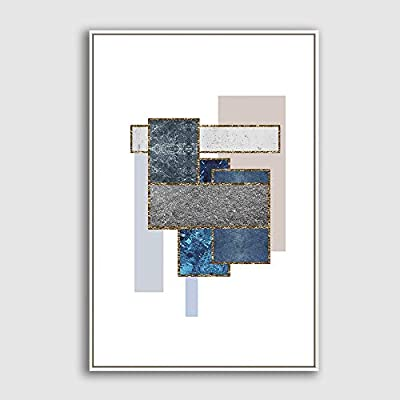 Framed Home Artwork Abstract Geometry for Living Room Bedroom, Created Just For You, Incredible Technique