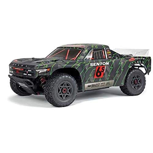 ARRMA SENTON 6S BLX Brushless 4WD Super Duty RC Short Course Truck RTR with 2.4GHz Radio   1:10 Scale (Black/Green) (1 8th Scale Rc Truck)