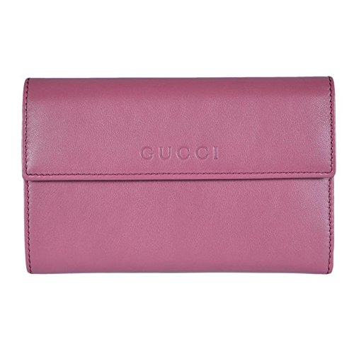 Gucci Women's Leather French Flap Wallet 346057 5535 Dark...