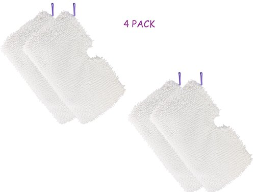 OEM Shark Steam Mop Pads Washable Microfiber Mop Pads Cleaning Pads Replacement for Shark Steam Pocket Mops Replacement Pads S3500 series S3501 S3601 S3550 S3901 S3801 SE450 S3801CO S3601D-White 4 Pcs