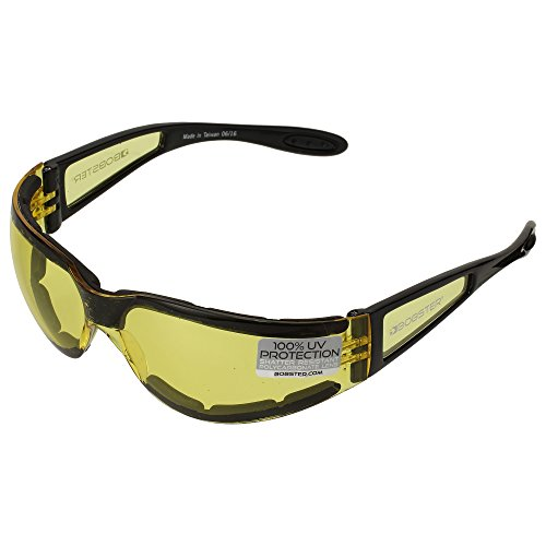 Bobster Shield 2 Sunglasses, Black Frame/Yellow Lens