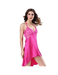 Erotic Lingerie for Women for Sex Lace Sleeveless Pajamas Sling Sexy Nightgown