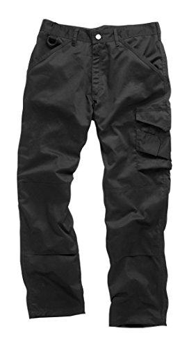 Scruffs, pantaloni da lavoro, da uomo, Uomo, Pantaloni, Worker, Black, Taglia 32