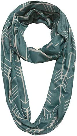 EGELBEL Women's Infinity Scarf With Pocket for Travel,Hidden Zipper