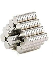 أقراص مغناطيسية نيوديميوم لعبوات مختارة مكونة من 100 قطعة - 8 ملم × 1.5 ملم