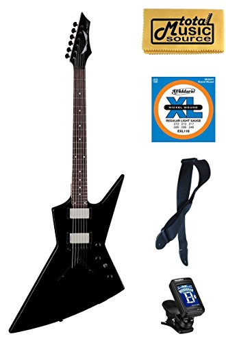 Dean Dave Mustaine Zero Black Electric Guitar FREE Strings Tuner Strap Cloth