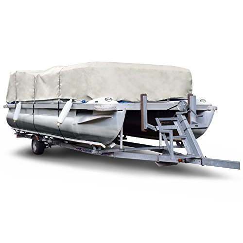 Gray Boat Cover (Budge 300 Denier Pontoon Covers Fits Pontoon Boats 20' to 24' Long, Gray)