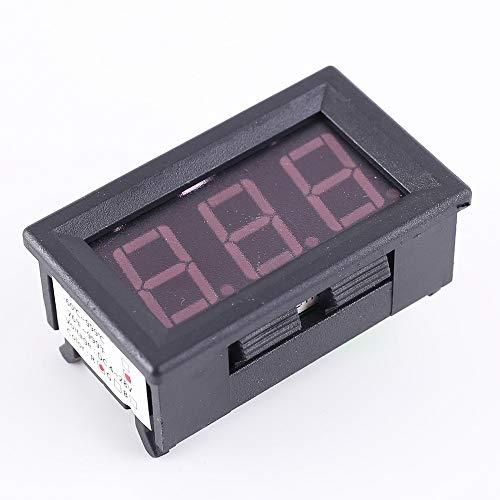 PEMENOL 12V Red Fahrenheit Digital Temperature Meter -76F~999F LED Display K-Type Thermocouple Temp Sensor