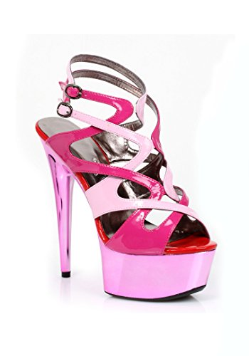 Color Strappy Rosado Metallic Platform Sandal Blocked Guava Ellie Shoes qwPXgwt