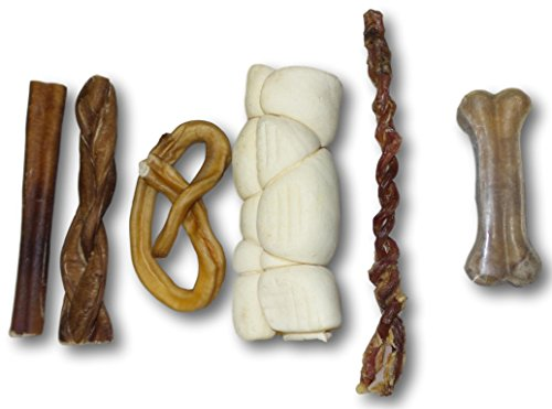 Cheap Pet Solutions Unlimited Pet Treats Bundle – Small Dog – Beef, Bull, Pork, Lamb (Combo 3) 6″ Bully Stick 6″ Braided Bully 3-4 Bully Pretzel 6″ Beef Cheek Roll 6-8 Lamb Braided Pizzel 4-6 Rawhide bone