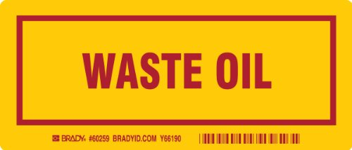 3 Waste Containers (Brady 60259,  Container Label, 3