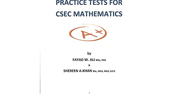 Amazon multiple choice practice tests for csec mathematics amazon multiple choice practice tests for csec mathematics ebook fayad ali shereen khan kindle store fandeluxe Gallery