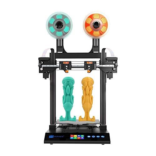 JG AURORA Artist-D Pro IDEX 3D Printer Independent Dual Extruder, Meanwell Power Supply TMC2209 Silent Driver Direct…